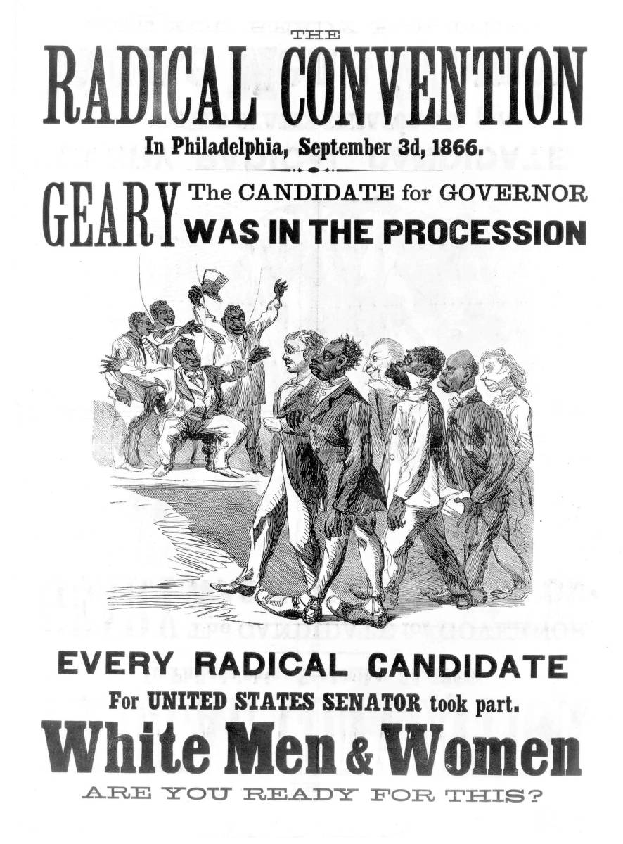 """an examination of the radical republicans reconstruction Is there any wonder that the south under radical-republican reconstruction became a """"howling babylon of corruption"""" this was to be expected from the """" riffraff of conquerors and conquered alike"""" the planter class had been destroyed """"many whites and negroes of the new ruling class could not even."""